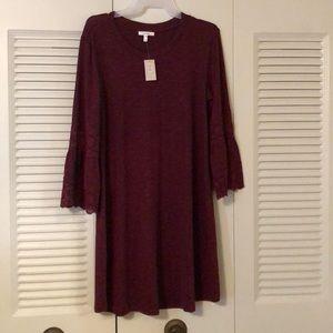 Burgundy Long-sleeve Dress
